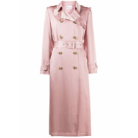 Red Valentino Trench Coat De Cetim - Rosa