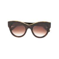 Stella Mccartney Eyewear Óculos De Sol 'havana Oversized' - Preto