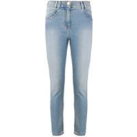 Balmain Calça Jeans Skinny Cropped Cintura Média - Azul