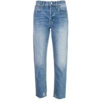 Trave Denim Calça Jeans Reta Cintura Alta - Azul