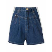Amapô Short Jeans Clochard Bicolor - Azul