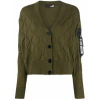 Love Moschino Wave-Embellished Cardigan - Verde