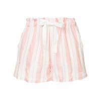 Lemlem Vertical Stripes Shorts - Rosa