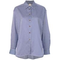Khaite Classic Striped Shirt - Azul