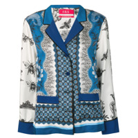 F.r.s For Restless Sleepers Mixed Print Shirt - Azul