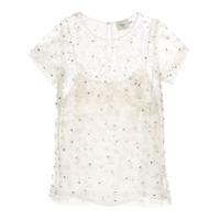 Aje Blusa Translúcida Com Aplicação - Branco