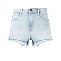 Alexander Wang Short Jeans Cintura Alta - Azul
