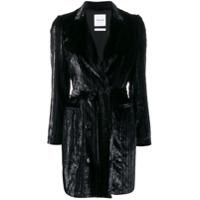 Black Coral Harper Metallized Blazer Dress - Preto