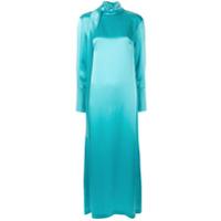 Taller Marmo Vestido Longo Com Gola Alta - Azul