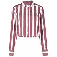 Dresshirt Blusa Ashley Cropped Listrada - Vermelho