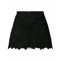 Red Valentino Short Com Renda - Preto