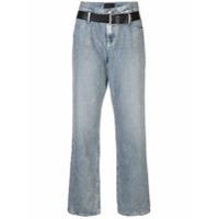 Rta Calça Jeans Boyfriend Com Cinto - Azul