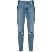 Heron Preston Calça Jeans Reta Destroyed - Azul