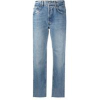 Boyish Jeans Calça Jeans Cropped Cintura Média - Azul