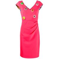 Boutique Moschino Vestido Midi Com Aplicação Floral - Rosa