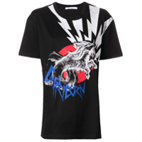 Givenchy Camiseta Oversized Mangas Curtas - Preto