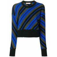 Marni Suéter Cropped Listrado - Azul