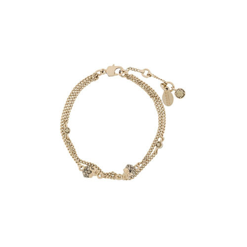 Imagem de Alexander McQueen Bracelete 'Skull Charm' de ouro - Metálico