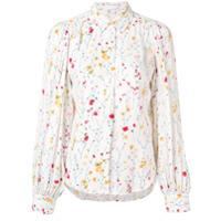 Equipment Camisa Com Estampa Floral - Branco