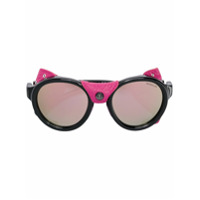 Moncler Eyewear Óculos Espelhado - Preto