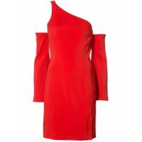 Mugler Vestido Assimétrico - Vermelho