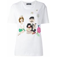 Dolce & Gabbana Colete Com Patchwork - Branco