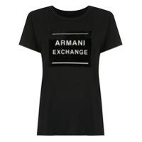 Armani Exchange Blusa Com Estampa - Preto