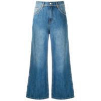 Amapô Calça Jeans Pantalona Strass - Azul