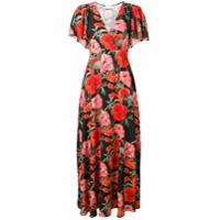 Aniye By Vestido Longo Com Estampa Floral - Preto