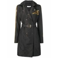 Versace Collection Jaqueta Impermeável Com Abotoamento Duplo - Preto