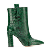 Paris Texas Snakeskin Effect Ankle Boots - Green
