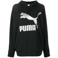 Puma Moletom Com Estampa De Logo - Preto