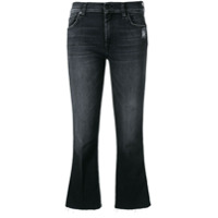 7 For All Mankind Cropped Bootcut Jeans - Preto