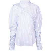 Silvia Tcherassi Camisa Listrada Desconstruída - Branco