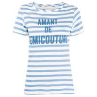 Semicouture Camiseta Com Listras - Branco