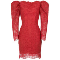 Martha Medeiros Vestido Curto Belle Renda - Vermelho Pitanga