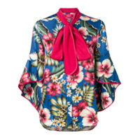 F.r.s For Restless Sleepers Blusa Floral - Azul