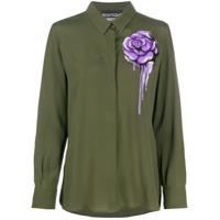 Boutique Moschino Blusa Mangas Longas Com Estampa Floral - Verde