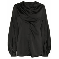 Low Classic Blusa Com Transpasse - Black
