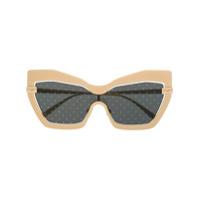 Dolce & Gabbana Eyewear Óculos De Sol Com Padronagem De Poás - Dourado