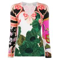 Etro Suéter Com Estampa Floral - Neutro