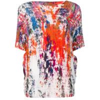 Issey Miyake Camiseta Com Estampa Splash - Laranja