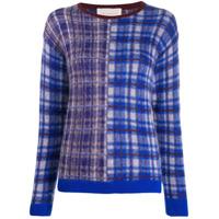 Chiara Bertani Suéter De Tricô Com Padronagem - Azul