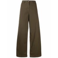 Aspesi Calça Pantalona Cintura Alta - Marrom