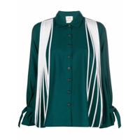 Bodice Studio Camisa Mangas Flare Com Pregas - Green