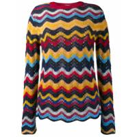 Marni Suéter Com Tricô - Laranja