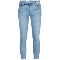 Paige Calça Jeans Skinny Cropped - Azul