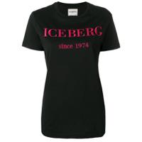 Iceberg Camiseta Com Logo - Preto