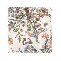 Colombo Cachecol Com Estampa Floral De Cashmere - Branco