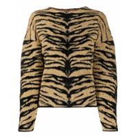 Laneus Suéter Com Padronagem - Dourado